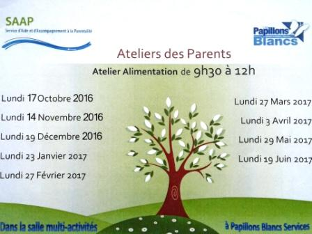 Ateliers parents Papillons Blancs
